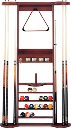 7 Cue Wall Rack With Bridge Clip Hj Scott Cue Racks