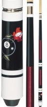 Economy - 8-Ball Rose - Two Piece Cues