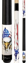 Players - Lethal Threat Eagle American Flames - Two Piece Cues