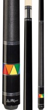 Players - Black with Rainbow Triangle Band - Two Piece Cues