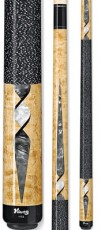 Two Piece Cues - Icy White and Grey Pearl Natural Maple - Viking