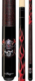 Players - Lethal Threat Fireman Skull 48 - Two Piece Cues