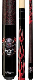 Players - Lethal Threat Fireman Skull 52 - Two Piece Cues